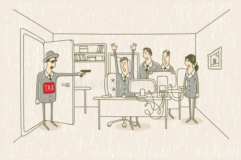 Le percepteur illustration libre de droits
