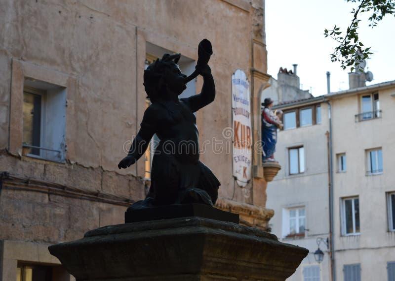 Le Petit Baron, rue Mérindol, DES Cardeurs, Aix-en-Provence, France d'endroit photographie stock