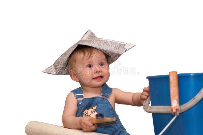 Le petit constructeur photos stock