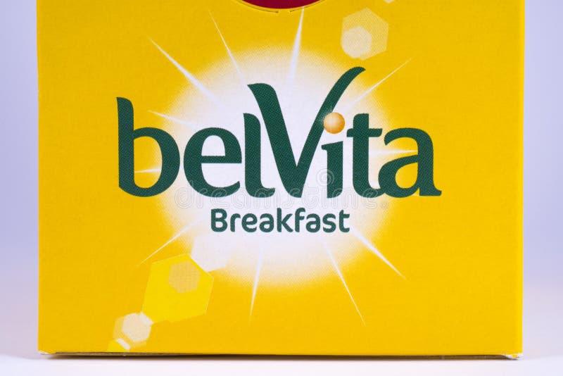 Le petit déjeuner de Belvita fait cuire au four images libres de droits