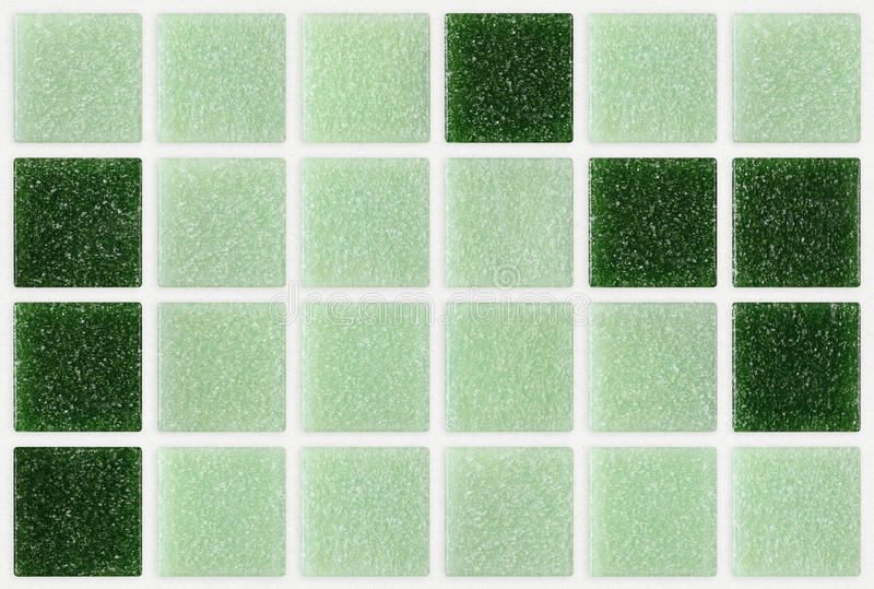 Le petit marbre couvre de tuiles brillant carré vert images libres de droits