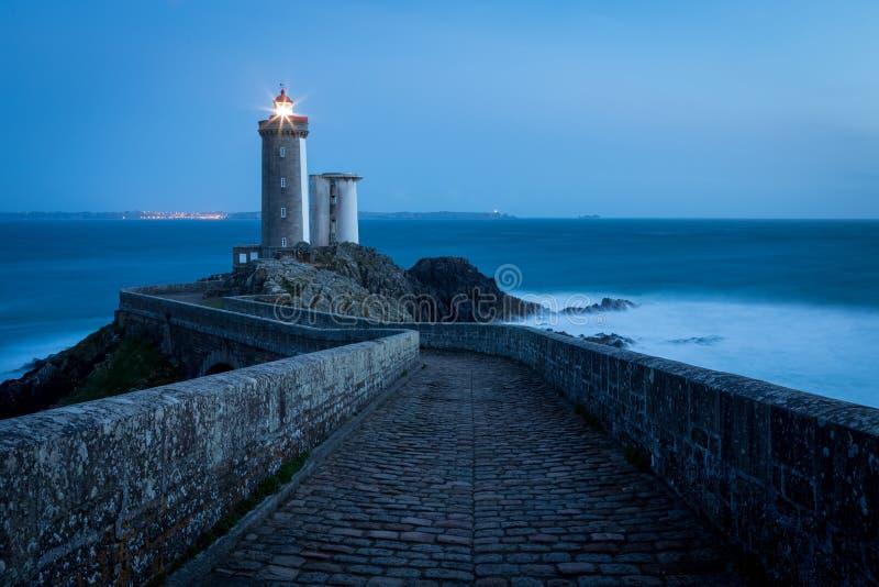 Le Petit Minou lighthouse, Bretagne, France royalty free stock photo