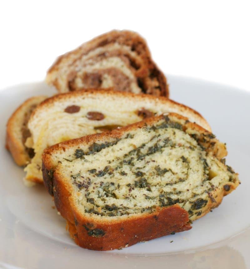 Le petit pain doux slovène traditionnel a appelé le potica images stock
