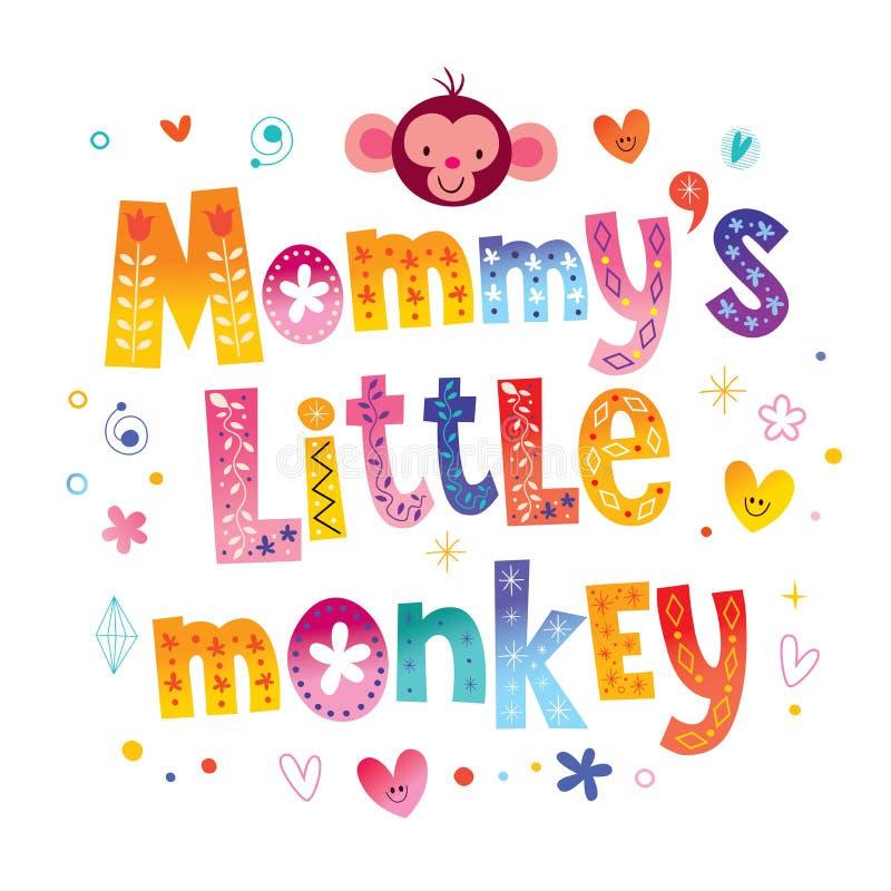 Le petit singe de la maman illustration de vecteur