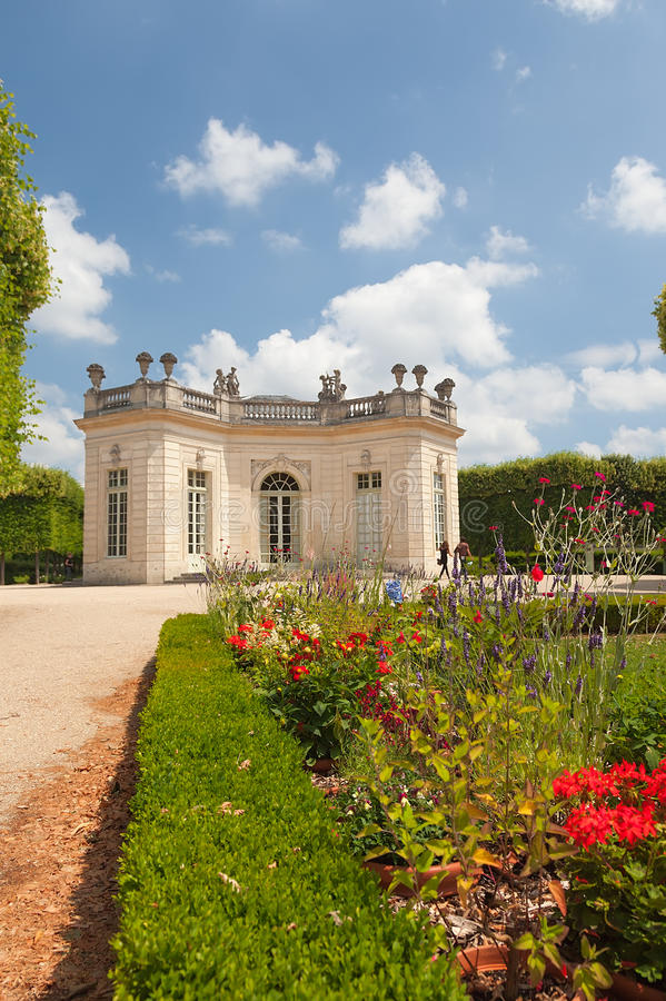 Le Petit Trianon in Versailles. France stock photography