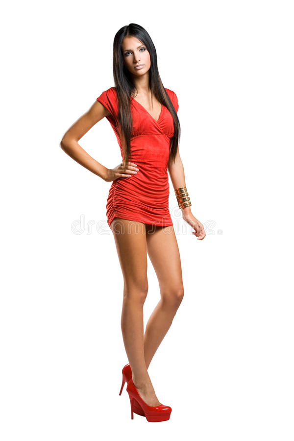 Le peu robe rouge. image stock