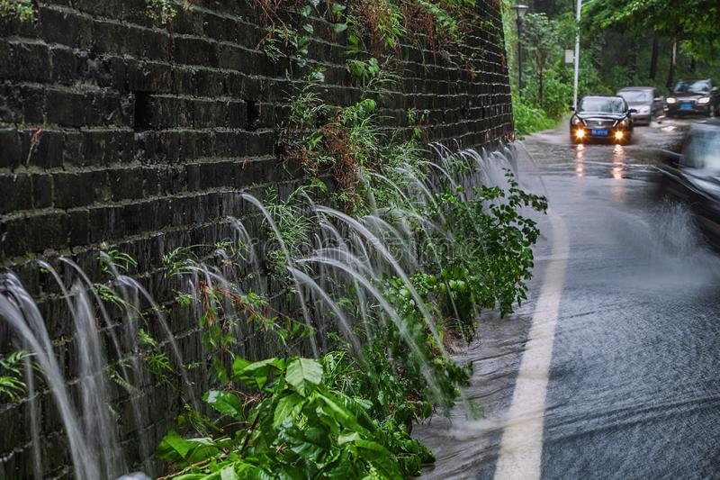 Le phénomène étrange de broche de dragon dans le mur de Nanjing Mingcheng images libres de droits
