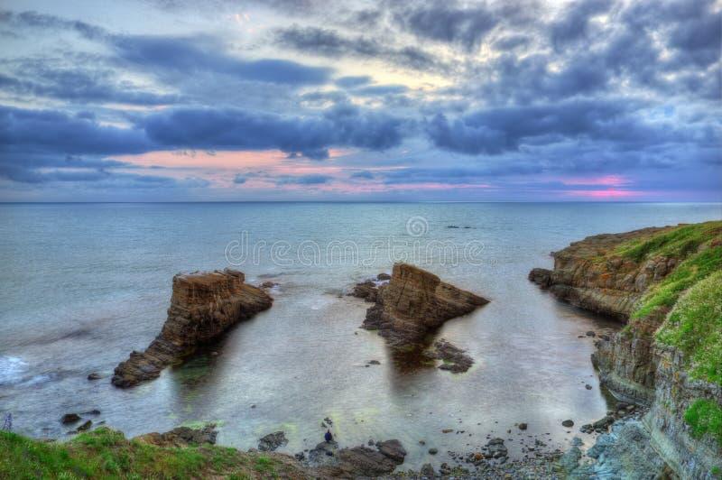 Le phénomène de roche a appelé les bateaux, Bulgarie, la Mer Noire image libre de droits