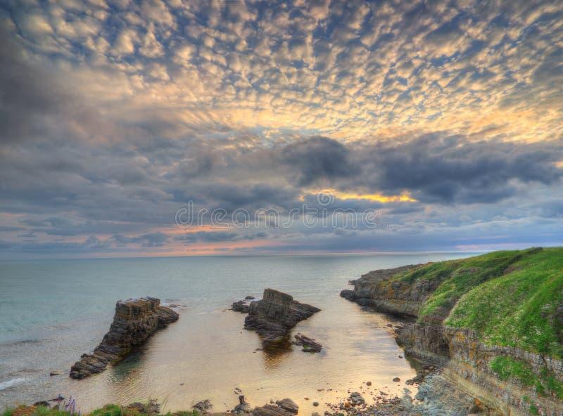 Le phénomène de roche a appelé les bateaux, Bulgarie, la Mer Noire - panorama photo stock