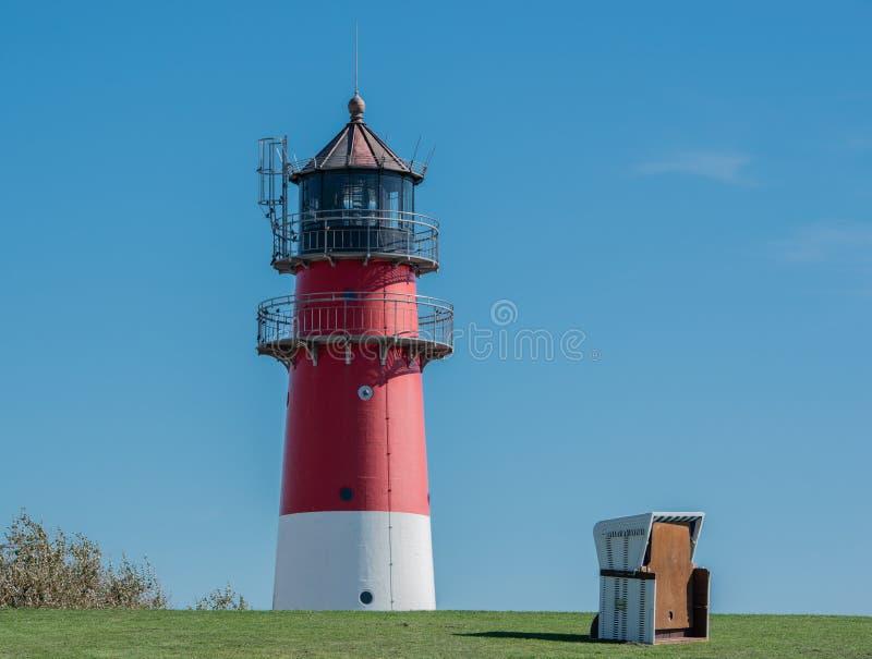 Le phare Buesum est un phare sur la côte allemande de la Mer du Nord photographie stock libre de droits