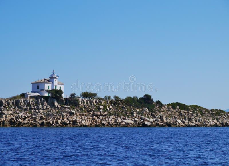 Le phare croate de Plocica photo libre de droits