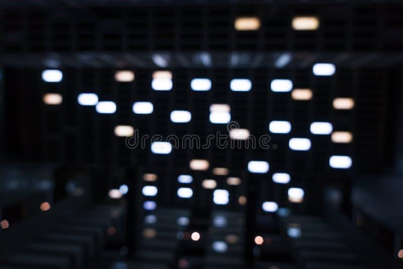Le phare dans la d?cellulation Sens de film de science-fiction photos stock