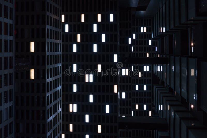 Le phare dans la d?cellulation Sens de film de science-fiction image stock