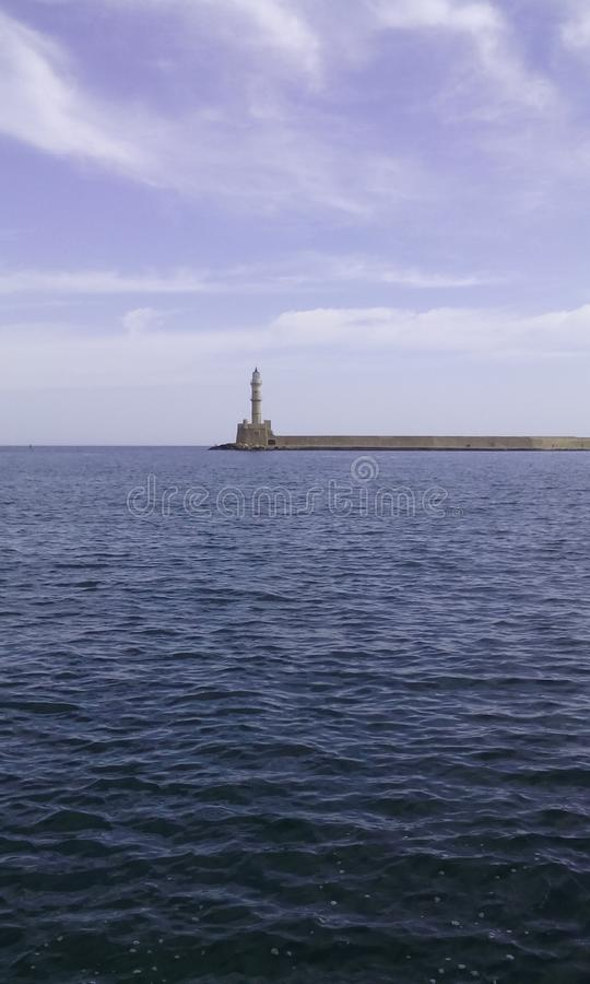 Le phare de Chania photo libre de droits