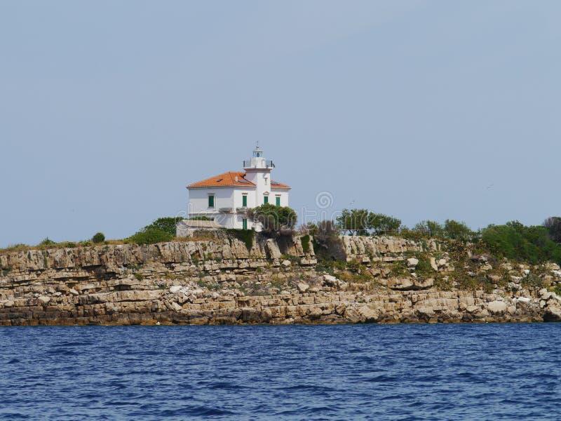 Le phare de Plocica en Croatie images libres de droits