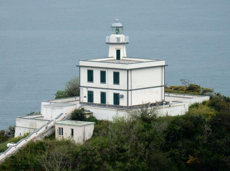 Le phare du capo Miseno photos libres de droits