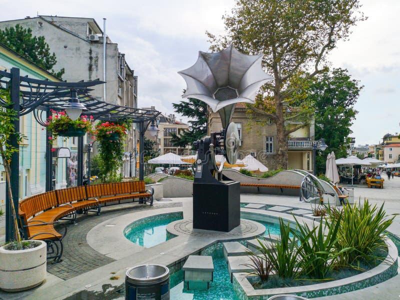 Le phonographe, Burgas photo libre de droits