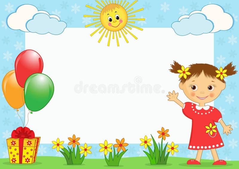 Le photo-cadre des enfants. illustration stock