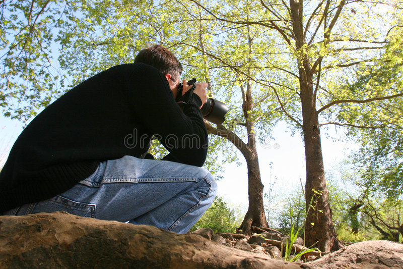 Le photographe sur photohunting. photos stock