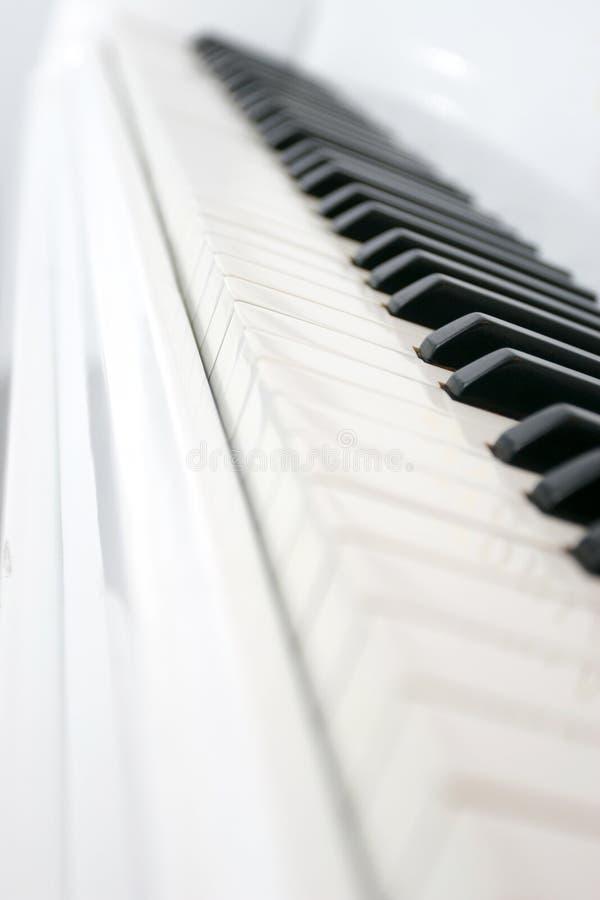 Le piano introduit la vue de côté photo libre de droits