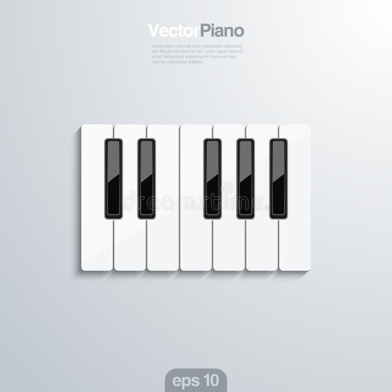 Le piano verrouille l'illlustraion du vecteur 3d. illustration de vecteur