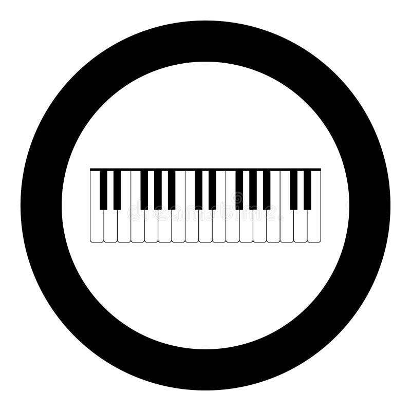 Le piano verrouille la couleur noire d'icône en cercle illustration de vecteur