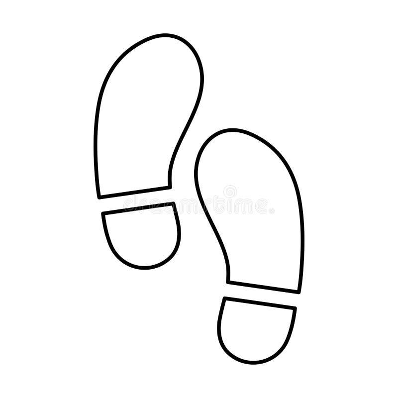 le pied fait un pas image d'icône illustration de vecteur