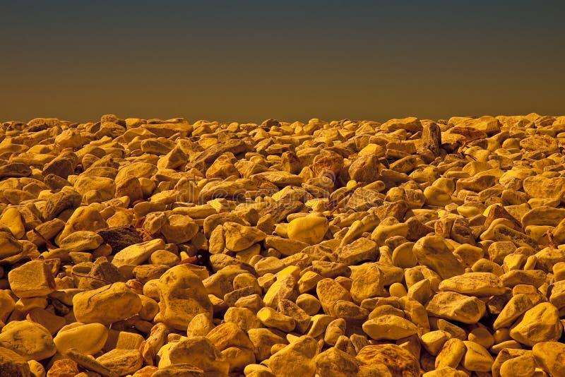 Le pietre bianche e grige hanno arrotondato morbidamente - l'immagine tonificata con lo spazio della copia fotografia stock