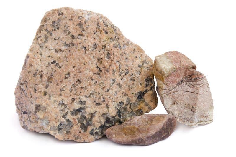 Le pietre del granito di colore rosso immagini stock libere da diritti