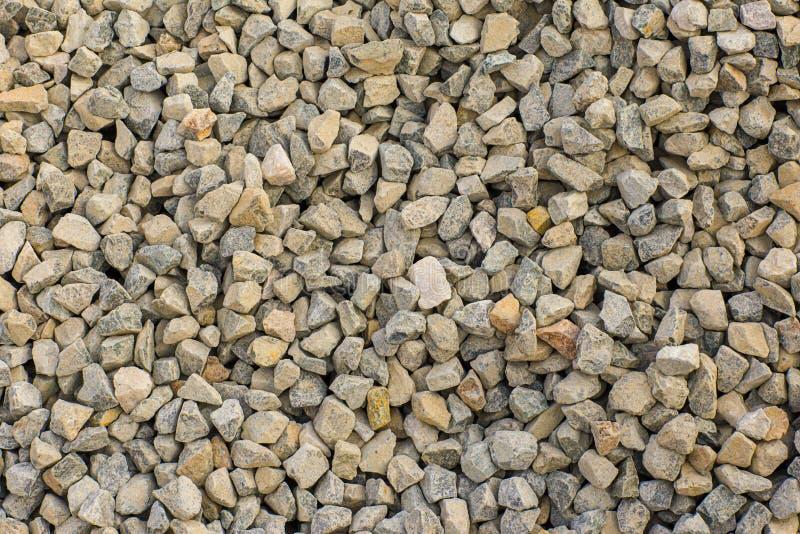 Le pietre strutturano e fondo Oscilli la struttura Fondo schiacciato della ghiaia immagini stock