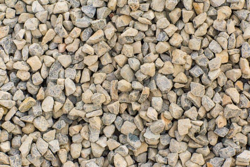 Le pietre strutturano e fondo Oscilli la struttura Fondo schiacciato della ghiaia immagini stock libere da diritti