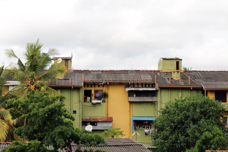 Le pile di area dell'alloggio o dell'appartamento a Colombo fotografia stock libera da diritti