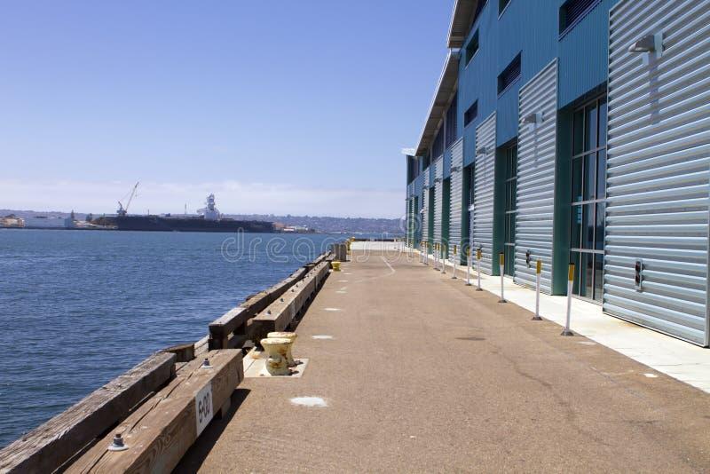 Le pilier de port de Broadway à San Diego images stock
