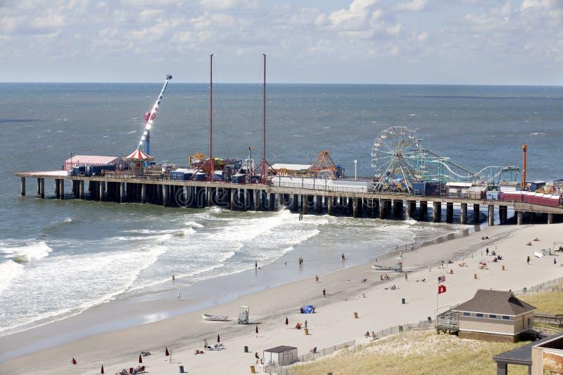 Le pilier en acier célèbre à Atlantic City, New Jersey image stock