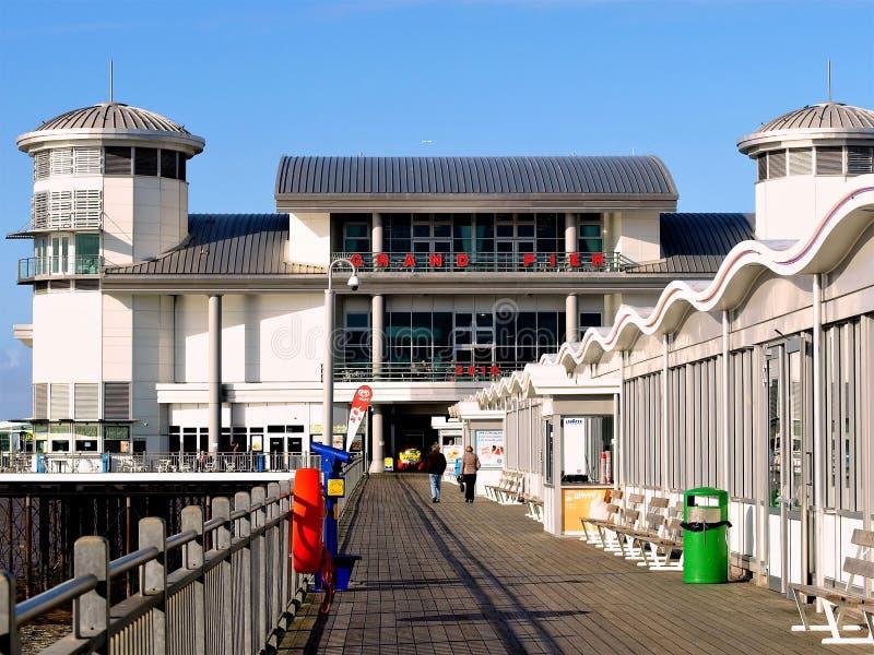 Le pilier grand, Weston Super Mare images libres de droits