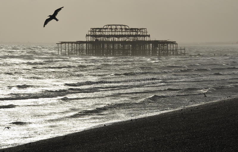 Le pilier occidental, Brighton images stock