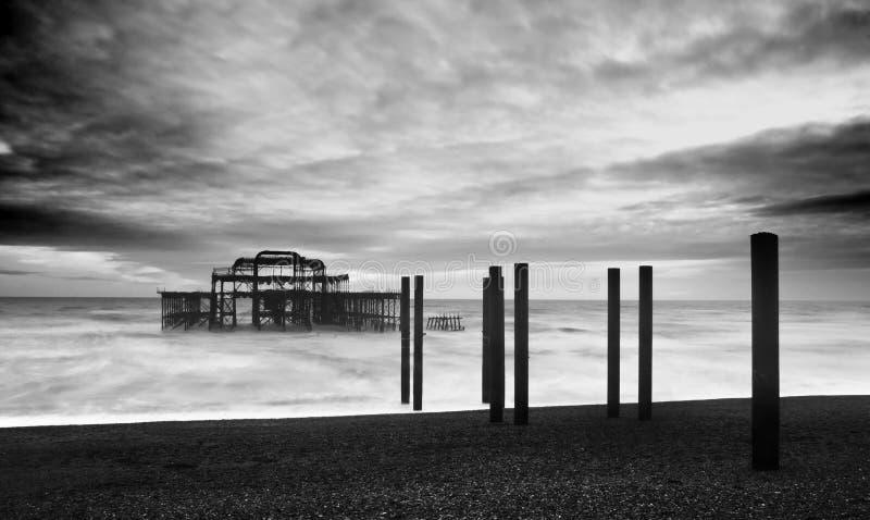 Le pilier occidental de Brighton photo libre de droits