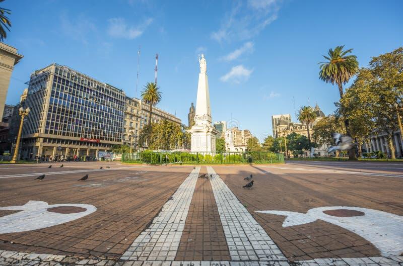 Le Piramide De Mayo à Buenos Aires, Argentine photos libres de droits