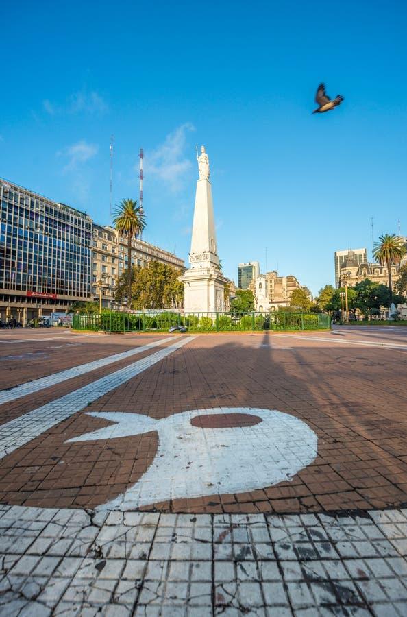 Le Piramide De Mayo à Buenos Aires, Argentine photo stock