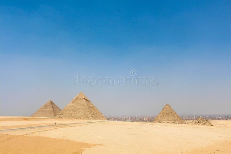 Le piramidi di Giza fotografia stock