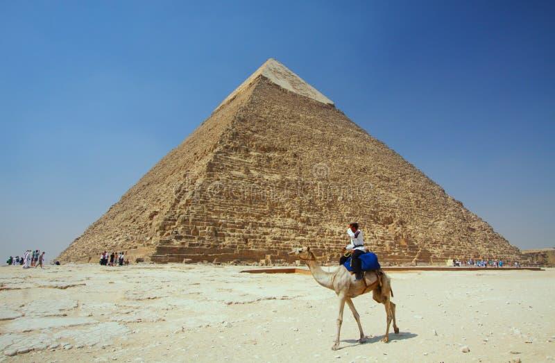 Le piramidi a Giza nell'Egitto fotografia stock libera da diritti
