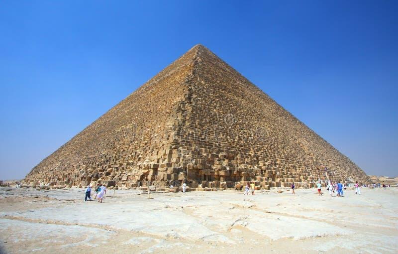 Le piramidi a Giza nell'Egitto fotografia stock