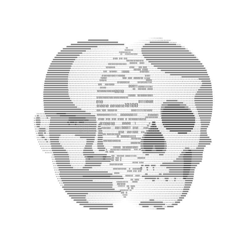 Le pirate informatique illustration libre de droits