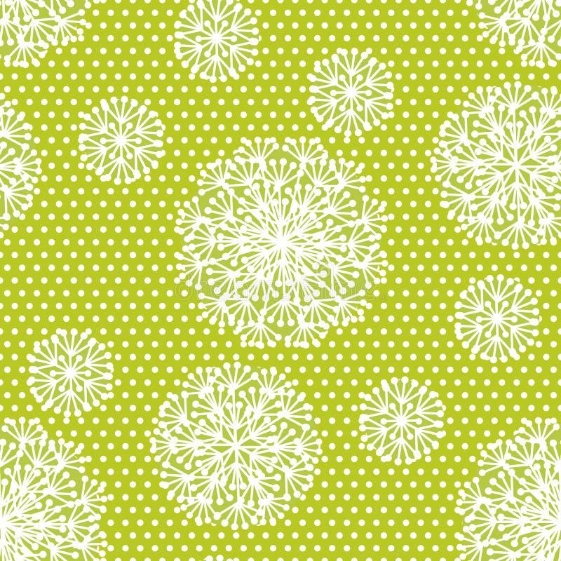 Le pissenlit géométrique tendre de style fleurit le modèle sans couture illustration libre de droits