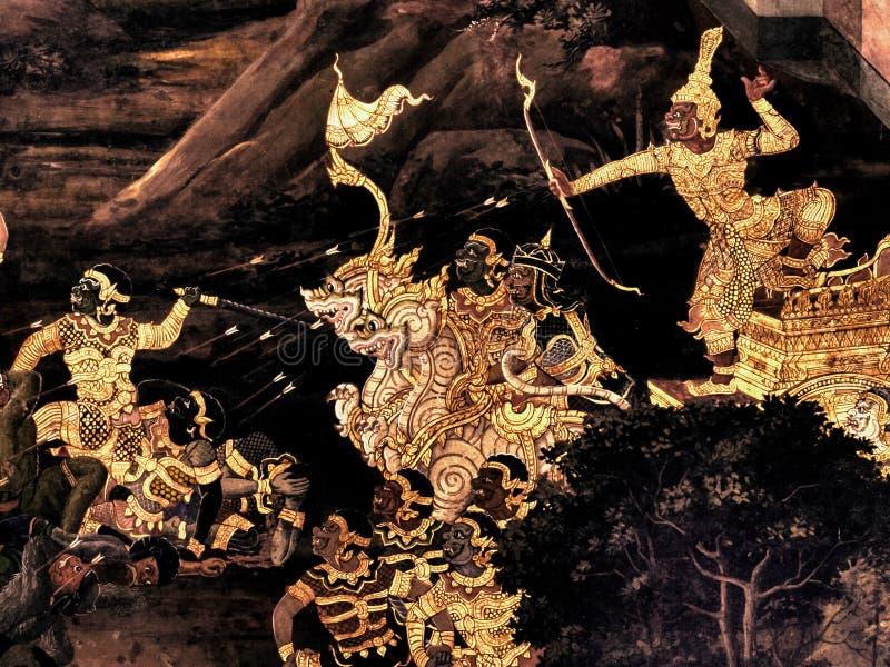 Le Pitture Murale Di Ramayana Di, Lo Straniero Combatte I ...