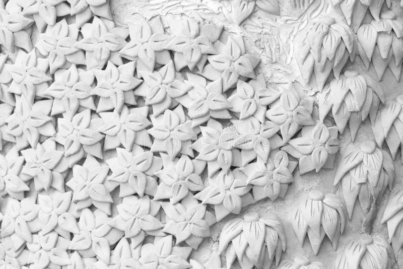 Le plâtre de mur de ciment fleurit le fond photo stock