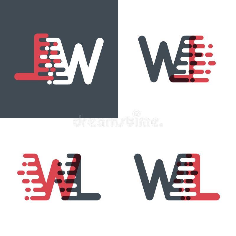 Le plan horizontal marque avec des lettres le logo avec le rose de vitesse d'accent et gris-foncé illustration stock