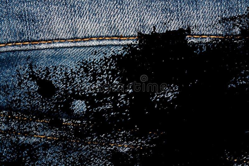 Le plan rapproché sale grunge des blues-jean obsolètes lace la texture de denim, le macro fond pour le site Web ou les périphériq illustration de vecteur