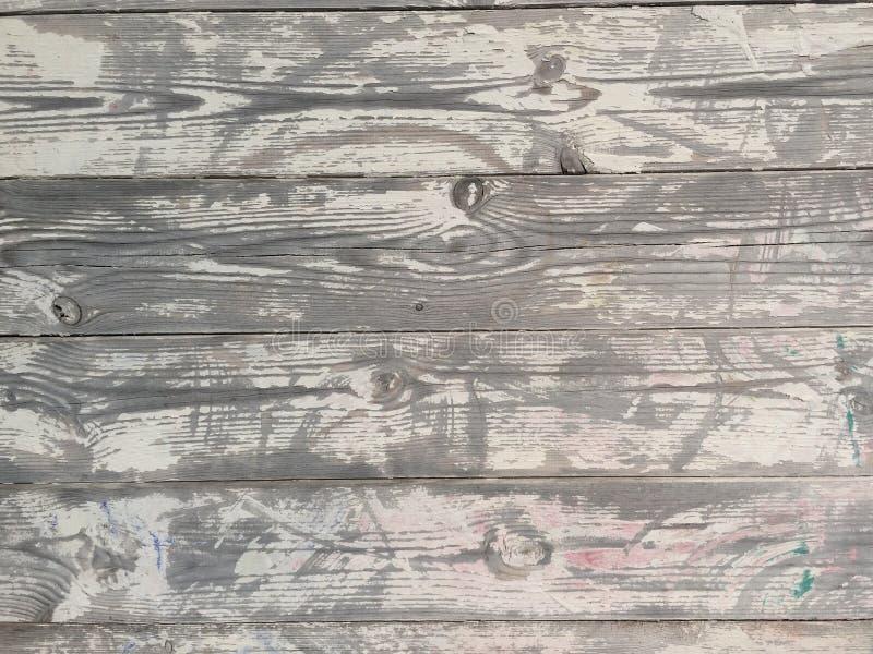le plance della quercia indossate da tempo e dal sole si sono sbiadite e si asciugano immagini stock libere da diritti