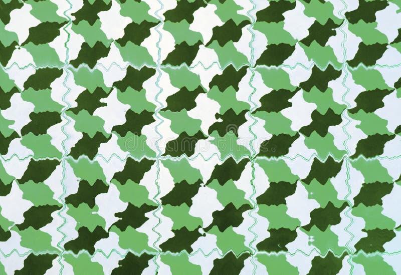 Le plancher de rétros tuiles vertes photos stock